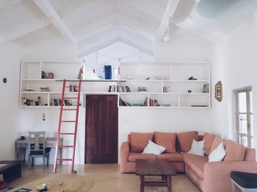 Living room of our airbnb