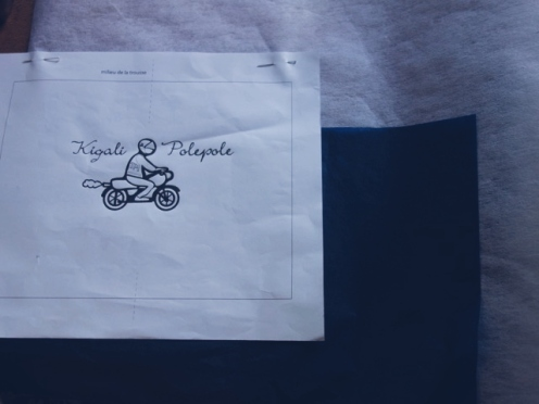Embroidery in the making : first drawing