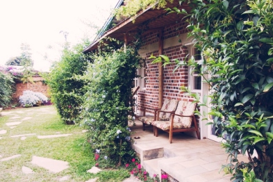 The porch of the room