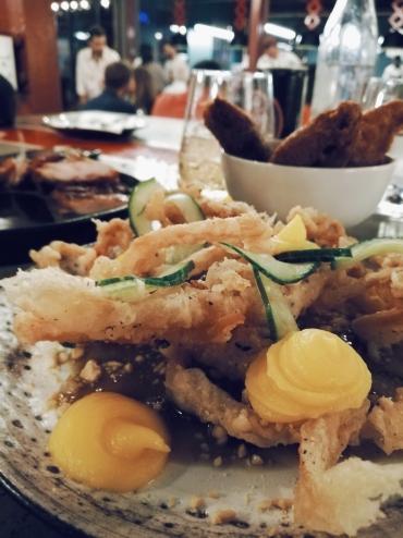 Pork belly tempura