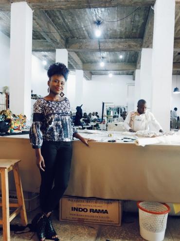 Joselyne, owner, founder, designer of Rwanda Clothing
