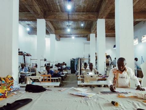 The workshop of Rwanda Clothing