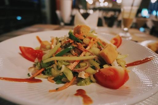 Chicken salad at Mythos Hotel
