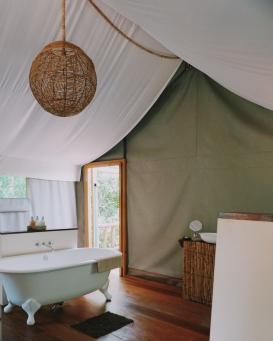 Tree tent baignoire