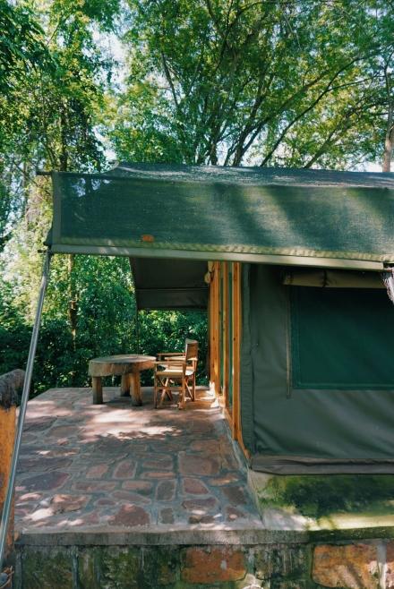 terrasse de la tente